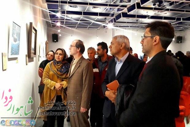 Photo of نمایشگاه شعر نقاشی بیتنگار در گالری سیب شاهرود گشایش یافت